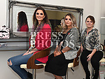 Sinead Faulkner with Grace Gough and Mags O'brien pictured at the opening of her make up studio on Peter Street.  Photo:Colin Bell/pressphotos.ie