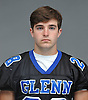 Brett Ryan of Glenn poses for a portrait during Newsday's High School Football Season Preview photo shoot at company headquarters in Melville on Friday, Aug. 25, 2017.