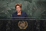 Her Excellency Dilma Rousseff, President of the Federative Republic of Brazil <br /> <br /> <br /> General Assembly Seventieth session 9th plenary meeting: High-level plenary meeting of the (6th meeting)