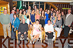 Jennifer Johnston, Ardraw, Beaufort, pictured with her parents John and Mairead, family and friends as she celebrated her 21st birthday in the Plaza Hotel, Killarney on Saturday night. ..........................................................