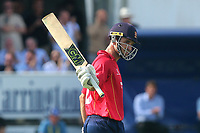 Ryan ten Doeschate celebrates scoring a century, 100 runs during Essex Eagles vs Notts Outlaws, Royal London One-Day Cup Semi-Final Cricket at The Cloudfm County Ground on 16th June 2017