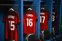 Carson, CA - Thursday August 03, 2017: USA locker room prior to a 2017 Tournament of Nations match between the women's national teams of the United States (USA) and Japan (JPN) at the StubHub Center.