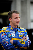 Oct. 15, 2009; Concord, NC, USA; NASCAR Sprint Cup Series driver A.J. Allmendinger during practice for the Banking 500 at Lowes Motor Speedway. Mandatory Credit: Mark J. Rebilas-