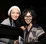 Katrina Lenk and Adina Verson with Cast of acclaimed Broadway-bound play 'Indecent' meet their Off-Broadway counterparts in 'God of Vengeance' at La Mama on January 10, 2017 in New York City.