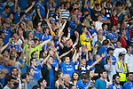 St Johnstone v FC Luzern...24.07.14  Europa League 2nd Round Qualifier<br /> Saints fans celebrate<br /> Picture by Graeme Hart.<br /> Copyright Perthshire Picture Agency<br /> Tel: 01738 623350  Mobile: 07990 594431