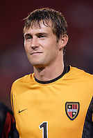 The MetroStars' goalkeeper Jonny Walker during pre-game introductions. D.C. United defeated the MetroStars 1 to 0 in regular season MLS action on Saturday October 2, 2004 at Giant's Stadium, East Rutherford, NJ..