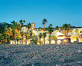 USA, California, Death Valley, Furnace Creek Inn at dusk