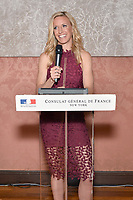 New York City, NY - MAY 23: Aly Wagner, Lead WWC Match Analyst, attends the Fox Sports FIFA Women's World Cup Send-off at the Consulate General of France in New York City. (Photo by Anthony Behar/Fox Sports/PictureGroup)