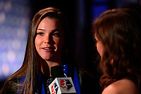 Philadelphia, PA - Thursday January 18, 2018: Joanna Boyles during the 2018 NWSL College Draft at the Pennsylvania Convention Center.