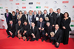 Spanish actors and directors pose after being awarded at the 2016 Premios Forque in Madrid, Spain. January 11, 2016. (ALTERPHOTOS/Victor Blanco)