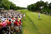 Golfer Sean O'Hair tees off on number 1 during the Quail Hollow Championship golf tournament 2009. The event, formerly called the Wachovia Championship, is a top event on the PGA Tour, attracting such popular golf icons as Tiger Woods, Vijay Singh and Bubba Watson. Photo from the final round in the Quail Hollow Championship golf tournament at the Quail Hollow Club in Charlotte, N.C., Sunday , May 03, 2009...golfer Sean O'Hair tees off on number 1