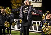 NWA Democrat-Gazette/CHARLIE KAIJO Bentonville High School cheerleaders cheer during a football game, Friday, November 2, 2018 at Bentonville High School in Bentonville.