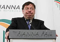 19/05/2009.An Taoiseach Brian Cowen TD during a local election manifesto in The Merrion Hotel, Dublin..Photo: Gareth Chaney Collins