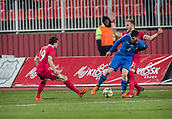 27th March 2018, Karadjorde Stadium, Novi Sad, Serbia; Under 21 International Football Friendly, Serbia U21 versus Italy U21; Defender Giuseppe Pezzella of Italy gets the better of Uros Racic of Serbia