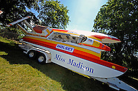 "The U-6 ""Holset Miss Madison"" last raced in 1998 at the Madison Regatta. The Ron Jones designed boat was built as the U-25 ""Pay n' Pak""...10-12 July, 2009, 100th Gold Cup, Detroit River, Detroit, MI USA..©2009 F.Peirce Williams, USA."