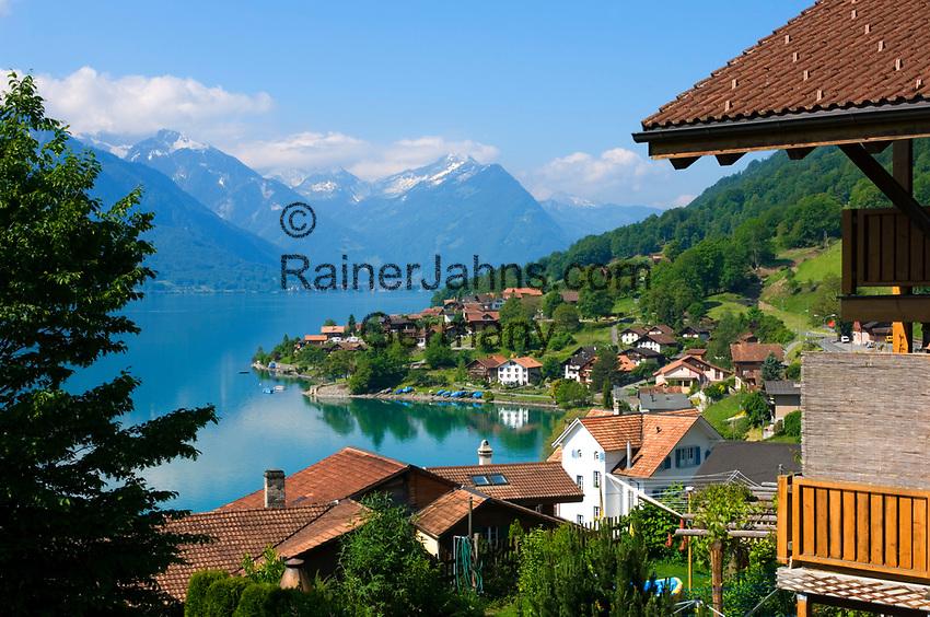 CHE, SCHWEIZ, Kanton Bern, Berner Oberland, Oberried am Brienzersee | CHE, Switzerland, Bern Canton, Bernese Oberland, Oberried at Lake Brienz