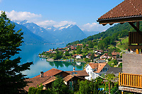 CHE, SCHWEIZ, Kanton Bern, Berner Oberland, Oberried am Brienzersee | CHE, Switzerland, Bern Canton, Bernese Oberland, Oberried at Lake Brienz