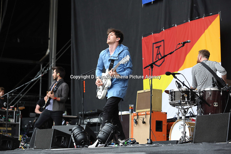 Pictured: Twin Atlantic support act. Wednesday 02 July 2014<br />