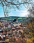 The town of Cesky Krumlov is a UNESCO World Heritage site located on the Vltava River (Moldau) in Bohemia, in southwestern Czech Republic. It was built from the 14th to the 17th centuries in Renaissance architectural style, with elements of Gothic and Baroque styles as well. Its 13th century castle is the second largest in the Czech Republic.