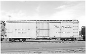 Cable car 04426 at Alamosa.<br /> D&amp;RGW  Alamosa, CO  Taken by Richardson, Robert W. - 1/4/1953