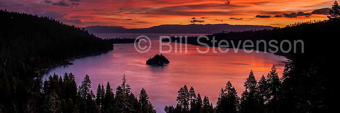 If you are a landscape photographer Emerald Bay rarely disappoints at sunrise. If the clouds become illuminated by the rising sun then you're in luck. If it's a stormy day and the sun doesn't poke through then the sky may be filled with the shapes of dramatic clouds.  If it is a clear day, well then, you'll just have to be satisfied with a beautiful scenic composition.