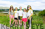YOUNG LADIES CUTTING A DASH: Amber Staunch (Blackwater), Rachel O'Brien, Kiera O'Leary, Siobhan Murphy (all Sneem), and Sheena Galvin (Kenmare) pose on the picturesque Dereenavurrig road in Sneem after their participation in the Summer Festival's 'Colour Dash' event.