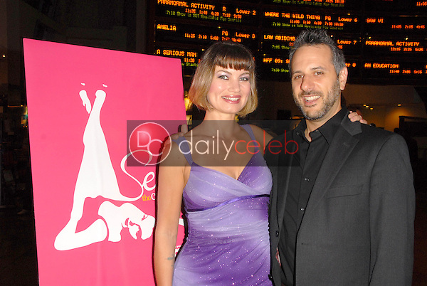 Rena Riffel and director Jeffrey Schwarz<br />