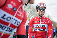 Jens Debusschere (BEL/Lotto Soudal) pre race<br /> <br /> 3 Days of De Panne 2017<br /> Morning stage 3: De Panne-De Panne (111,5km)