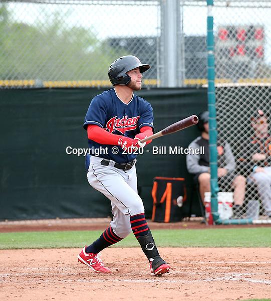 Alexis Pantoja - Cleveland Indians 2020 spring training (Bill Mitchell)