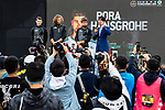 Bora-Hansgrohe at the team presentation before the start of the 2018 Shanghai Criterium, Shanghai, China. 17th November 2018.<br /> Picture: ASO/Alex Broadway | Cyclefile<br /> <br /> <br /> All photos usage must carry mandatory copyright credit (&copy; Cyclefile | ASO/Alex Broadway)