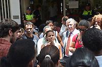 SAO PAULO, 20 DE FEVEREIRO DE 2013. - MANIFESTACAO SEM TETO - Lideres de movimentos sociais por moradia se reunem com a Secretaria de Moradia do Municipio, na Central de Habitacao, regiao central, na manha desta quinta feira, 21, apos reintegracao de posse de ocupacoes no centro da capital.   (FOTO: ALEXANDRE MOREIRA / BRAZIL PHOTO PRESS)