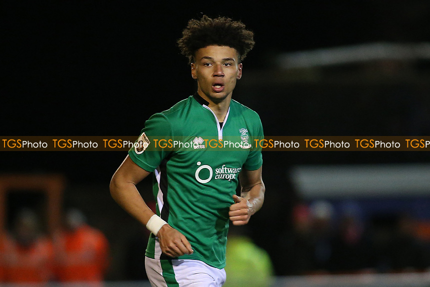 Lee Angol of Lincoln City during Braintree Town vs Lincoln City, Vanarama National League Football at the IronmongeryDirect Stadium on 7th March 2017