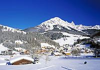 Oesterreich, Salzburger Land, Winterlandschaft bei Filzmoos am Dachsteingebirge | Austria, Salzburger Land, Winter Scenery near Filzmoos at Dachstein Mountains