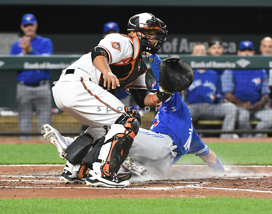 Baltimore Orioles Wellington Castillo (29) during a game against the Toronto Blue Jays on April 5, 2017 at Oriole Park at Camden Yards in Baltimore, MD. The Orioles beat the Blue Jays 3-1.