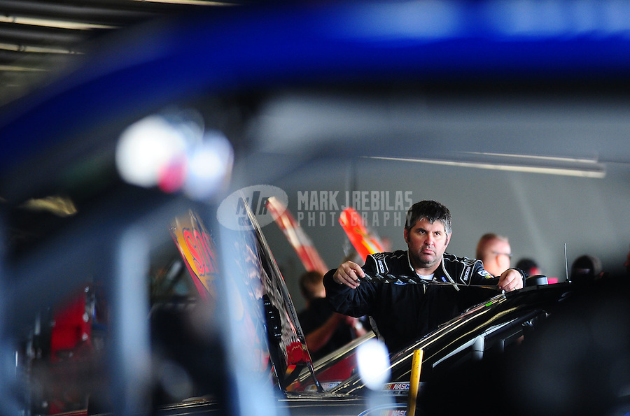 Feb 17, 2011; Daytona Beach, FL, USA; NASCAR Nationwide Series driver Jeff Green during practice for the DRIVE4COPD 300 at Daytona International Speedway. Mandatory Credit: Mark J. Rebilas-