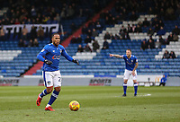 Oldham Athletic's Gevaro Nepomuceno during the Sky Bet League 1 match between Oldham Athletic and Bristol Rovers at Boundary Park, Oldham, England on 30 December 2017. Photo by Juel Miah / PRiME Media Images.