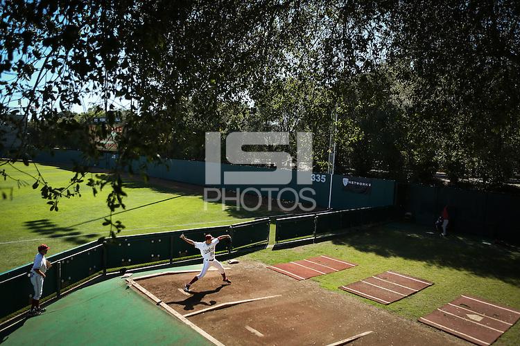 STANFORD, CA - FEBRUARY 16, 2015 - Stanford falls to visiting California at Klein Field at Sunken Diamond Stadium.