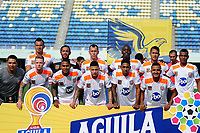 BARRANCABERMEJA - COLOMBIA, 04-08-2019: Jugadores de Envigado posan para una foto previo al partido por la fecha 4 de la Liga Águila II 2019 entre Alianza Petrolera y Envigado F.C. jugado en el estadio Daniel Villa Zapata de la ciudad de Barrancabermeja. / Players of Envigado pose to a photo prior match for the date 4 as part of Aguila League II 2019 between Alianza Petrolera and Envigado F.C. played at Daniel Villa Zapata stadium in Barrancabermeja city. Photo: VizzorImage / Jose Martinez / Cont