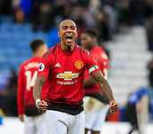 3rd February 2019, King Power Stadium, Leicester, England; EPL Premier League Football, Leicester City versus Manchester United; Ashley Young of Manchester United celebrates the victory at the end of the game