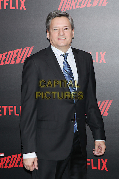 NEW YORK, NY - MARCH 10: Ted Sarandos  at the 'Daredevil' season 2 premiere at AMC Loews Lincoln Square 13 theater on March 10, 2016 in New York City. <br /> CAP/MPI99<br /> &copy;MPI99/Capital Pictures