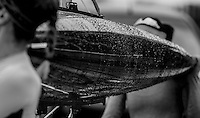 Caversham. Berkshire. UK<br /> Rain, gathered on the Pairs [shells] hull.<br /> 2016 GBRowing U23 Trials at the GBRowing Training base near Reading, Berkshire.<br /> <br /> Monday  11/04/2016 <br /> <br /> [Mandatory Credit; Peter SPURRIER/Intersport-images]