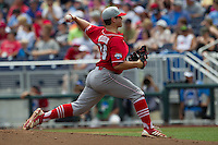 North Carolina State pitcher Carlos Rodon (16) delivers a pitch to the plate during Game 3 of the 2013 Men's College World Series between the North Carolina State Wolfpack and North Carolina Tar Heels at TD Ameritrade Park on June 16, 2013 in Omaha, Nebraska. The Wolfpack defeated the Tar Heels 8-1. (Andrew Woolley/Four Seam Images)