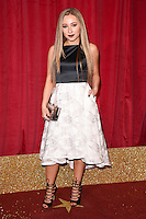 Ruby O'Donnell<br /> arrives for the British Soap Awards 2016 at Hackney Empire, London.<br /> <br /> <br /> &copy;Ash Knotek  D3124  28/05/2016
