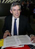 Primer Minister Gordon Brown of United Kingdom during  European Union summit 18 October 2007, in Lisbon.