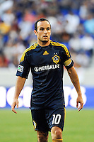 Landon Donovan (10) of the Los Angeles Galaxy. The Los Angeles Galaxy defeated the New York Red Bulls 1-0 during a Major League Soccer (MLS) match at Red Bull Arena in Harrison, NJ, on August 14, 2010.