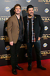 """British Actor SAM CLAFLIN and Tony Aguilar attends the """"The Hunger Games: Mockingjay - Part 1"""" premiere at Callao Cinema in Madrid, Spain. November 11, 2014. (ALTERPHOTOS/Carlos Dafonte)"""