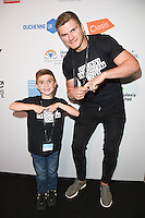 Jack Johnson and Owen Farrell<br /> on the trading floor for the BGC Charity Day 2016, Canary Wharf, London.<br /> <br /> <br /> &copy;Ash Knotek  D3152  12/09/2016