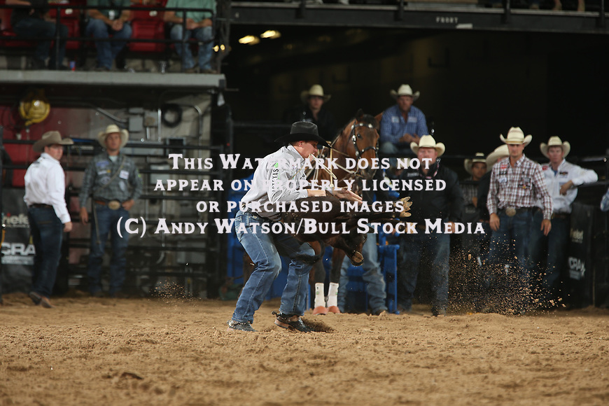 Marty Yates for 8.66 during the second round of the Las Vegas WCRA rodeo. Photo by Andy Watson