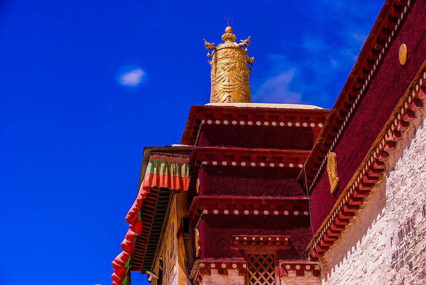 Tandruk Monastery, near Tsedang, Tibet (Xizang), China.