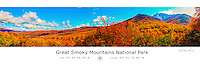 The Great Smoky Mountains National Park with Latitude and Longitude
